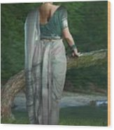 Indian Traditional Lady Wood Print