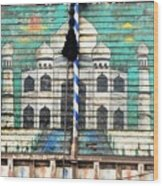 Indian Truck Art 3 - Taj Mahal Wood Print