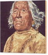 Indian Warrior Wood Print
