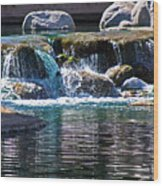 Indian Wells Waterfall Wood Print