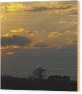 Indiana Farm Sunset 3 Wood Print