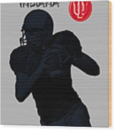 Indiana Football Wood Print