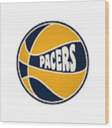 Indiana Pacers Retro Shirt Wood Print