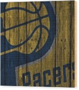 Indiana Pacers Wood Fence Wood Print