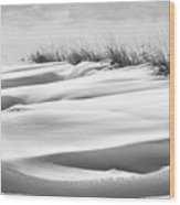 Indiana Snow Wood Print
