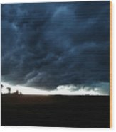 Indiana Storm Front Wood Print