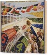 Indianapolis Motor Speedway Vintage Poster 1909 Wood Print
