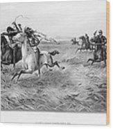 Indians/u.s. Military, 1876 Wood Print
