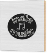 Indie Music Wood Print