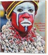 Indigenous Woman L A Wood Print