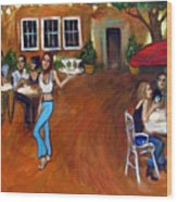 Indigo Alley Wood Print