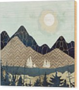 Indigo Forest Wood Print