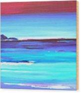 Indigo Island Wood Print
