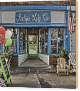 Indigo Lily Wood Print