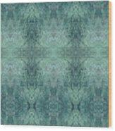 Indigo Lotus Lace Pattern 1 Wood Print