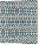 Indigo Ocean - Caribbean Tile Inspired Watercolor Swirl Pattern Wood Print
