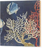 Indigo Ocean - Silence Of The Deep Wood Print