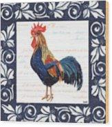 Indigo Rooster 2 Wood Print