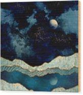 Indigo Sky Wood Print