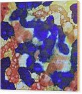 Indigo Slosh - V1lllt78 Wood Print