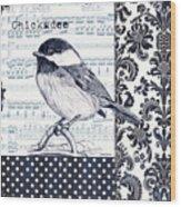Indigo Vintage Songbird 2 Wood Print