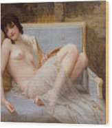 Indolence Wood Print by Guillaume Seignac
