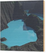 Indonesian Crater Lakes Wood Print