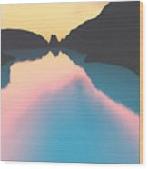 Indonesian Crater Lakes II Wood Print