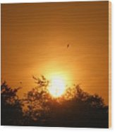 Indonesian Sunset Wood Print