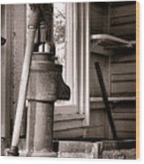 Indoor Plumbing Wood Print