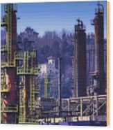 Industrial Archeology Refinery Plant 08 Wood Print