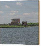 Industrial Banks Of The Charleston Harbor Wood Print