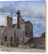Industrial Cement Factory Wood Print