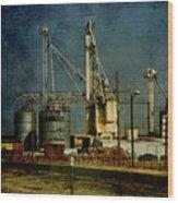 Industrial Farming In Texas Wood Print