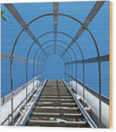 Industrial Ladder Wood Print