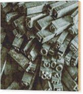 Industrial Letterpress Typeset  Wood Print