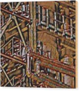 Industrial Storage And Distribution System Wood Print