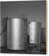 Industrial Storage Tanks Wood Print