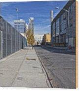 Industrial Street Wood Print