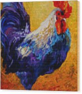 Indy - Rooster Wood Print