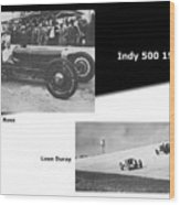 Indy 500 1928 Sam Ross And Leon Duray Wood Print