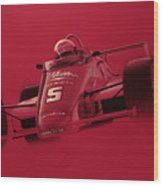 Indy Racing Wood Print by Jeff Mueller
