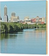 Indy White River View Wood Print