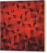 Inferno Wood Print by Silvia Ganora