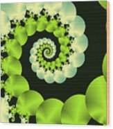 Infinite Chartreuse Wood Print