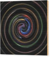 Infinite, Ever Expanding Image. Colorful And Classic Spiral Digital Art That Can Enhance Your Mood. Wood Print
