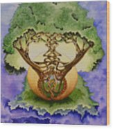 Infinitree Wood Print