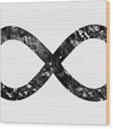 Infinity Symbol-black Wood Print