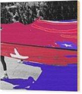 Inflatable Flag July 4th Parade 2 Tucson Arizona Wood Print