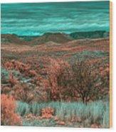 Infrared Arizona Wood Print